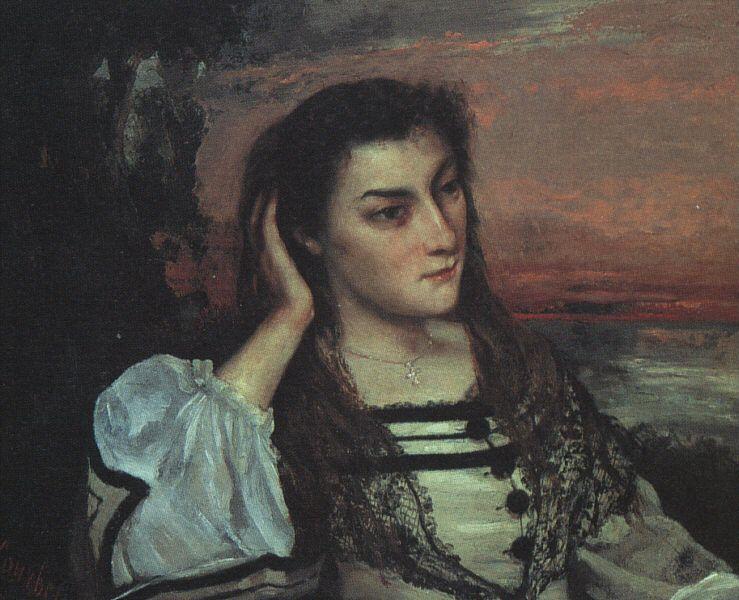 """Retrato de Gabrielle Borreau"". (by Gustave Courbet)."