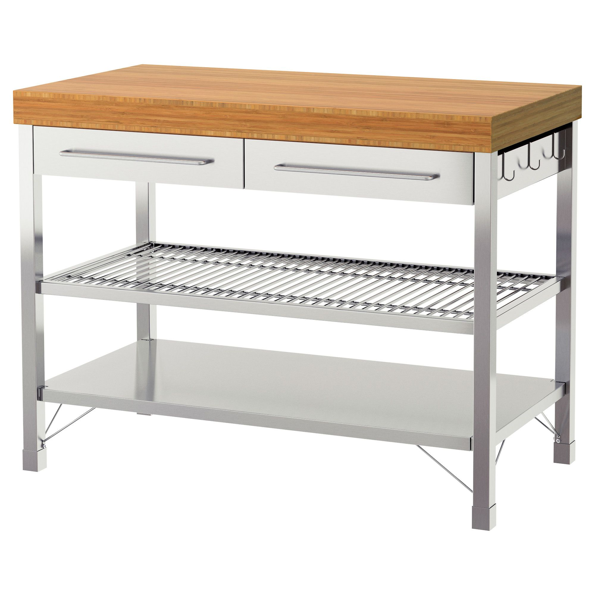 Ikea Küche Werkbank Rimforsa Work Bench Stainless Steel Color Stainless Steel Bamboo