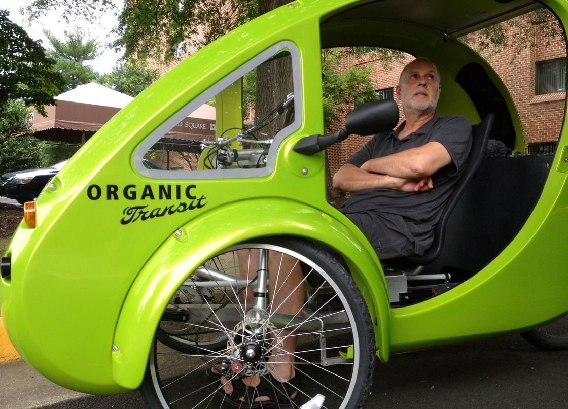ELF bike owner Mark Stewart discusses the unusual vehicle during his trip from North Carolina to Massachusetts.