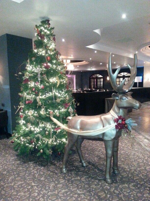 Mooie kerstversiering in het hotel