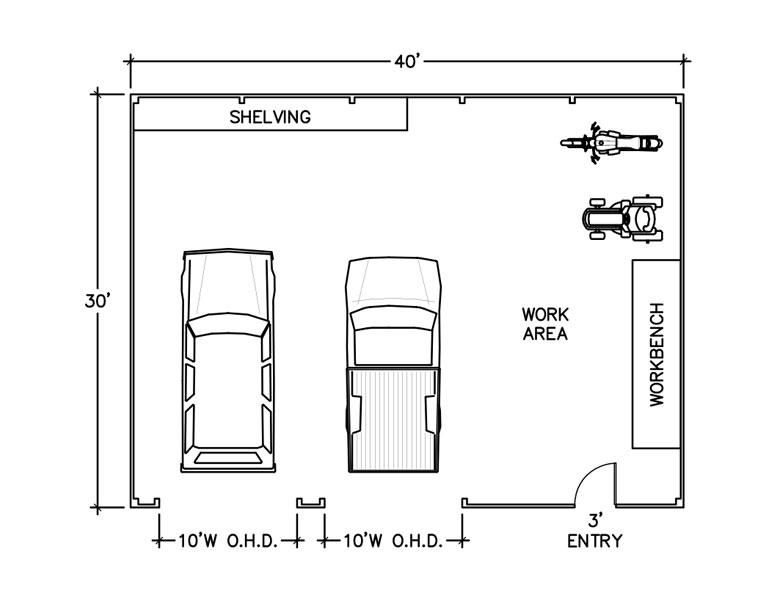 How Much Space Floor Plan Drawing Floor Plan Drawing Garage Plans How To Plan