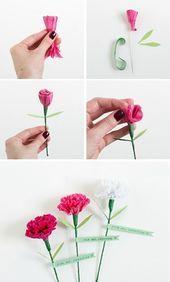 ▷ 1001+ Ideen, wie Sie Papierblumen basteln können  paper carnations, carnati…