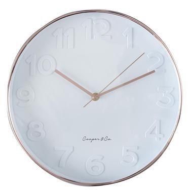 Spotlight Cooper Co Metro Copper Face Clock White Spotlight Australia