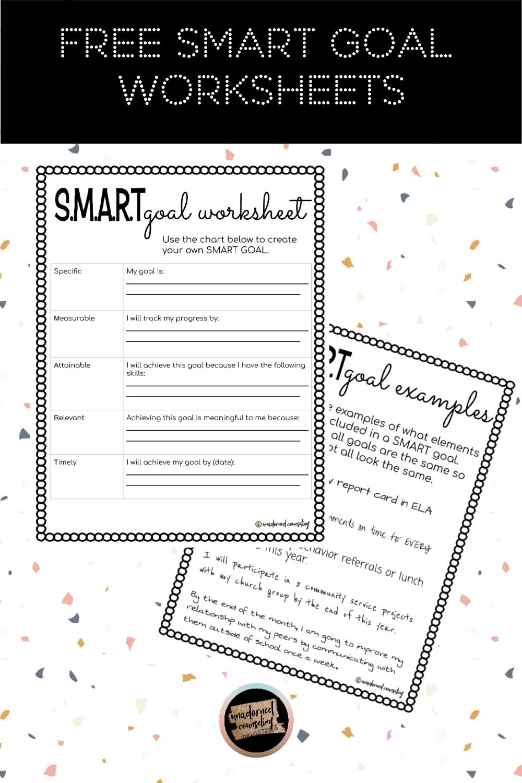 SMART Goal Worksheets in 2020   Smart goals worksheet ...