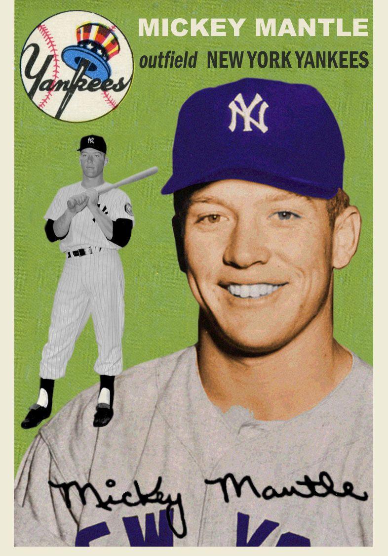 Pin By Peter Ruelas On Baseball Flashbacks Baseball Cards Old Baseball Cards Mickey Mantle
