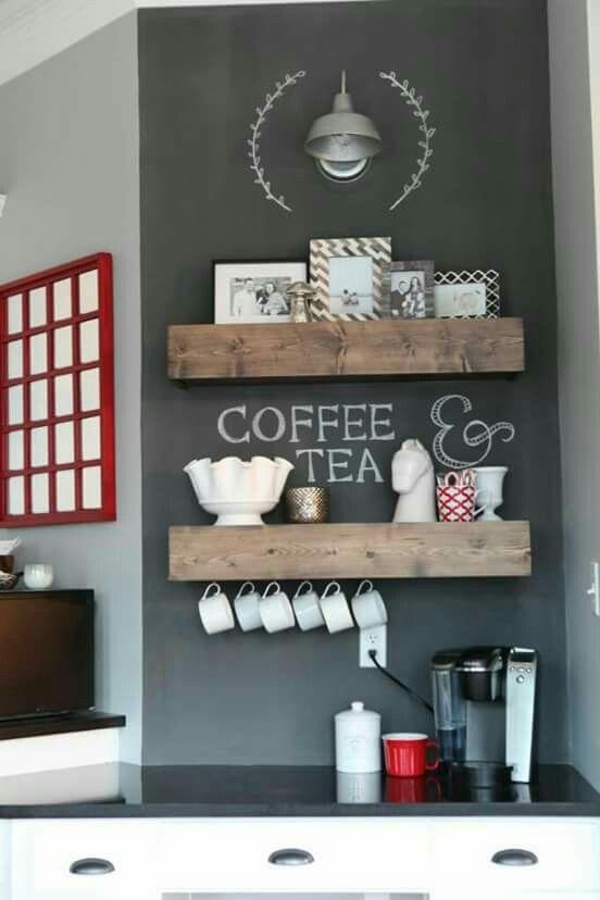 Canto do café / chá keuken Pinterest Schriftzug, Küche und - kleine regale für küche