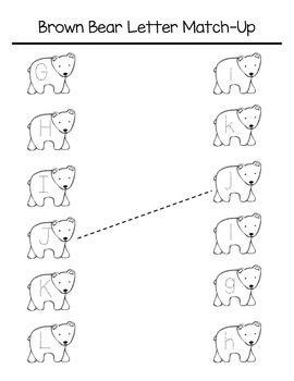Brown Bear Letter Match-Up | Ressourcen und Lernmaterialien-Seiten ...
