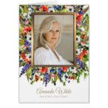 Funeral Thank You Card   Forest Florals