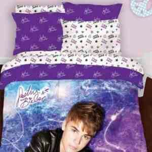 Justin Bieber Bed Set Purple Bedding Twin Comforter Sets