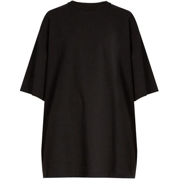 2d6fce8b70d Vetements Oversized heavy-metal print T-shirt ($515) ❤ liked on ...