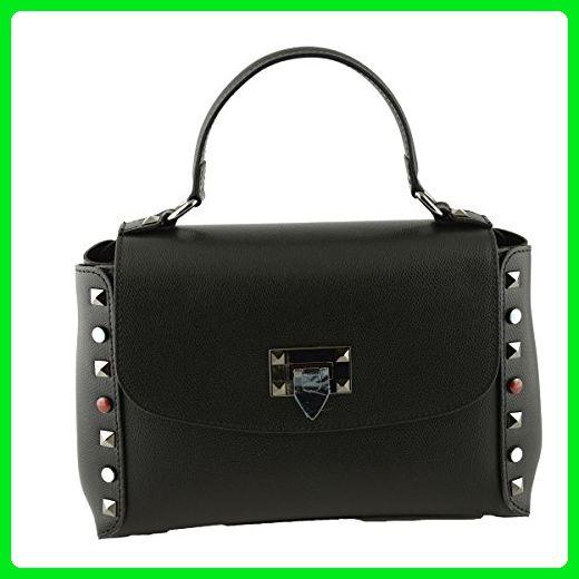 12ba92d221fe Genuine Leather Handbag Color Black - Top handle bags ( Amazon Partner-Link)