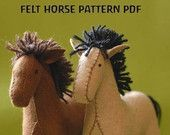 Felt Horse Pattern PDF New and Improved by woolhalla on Etsy