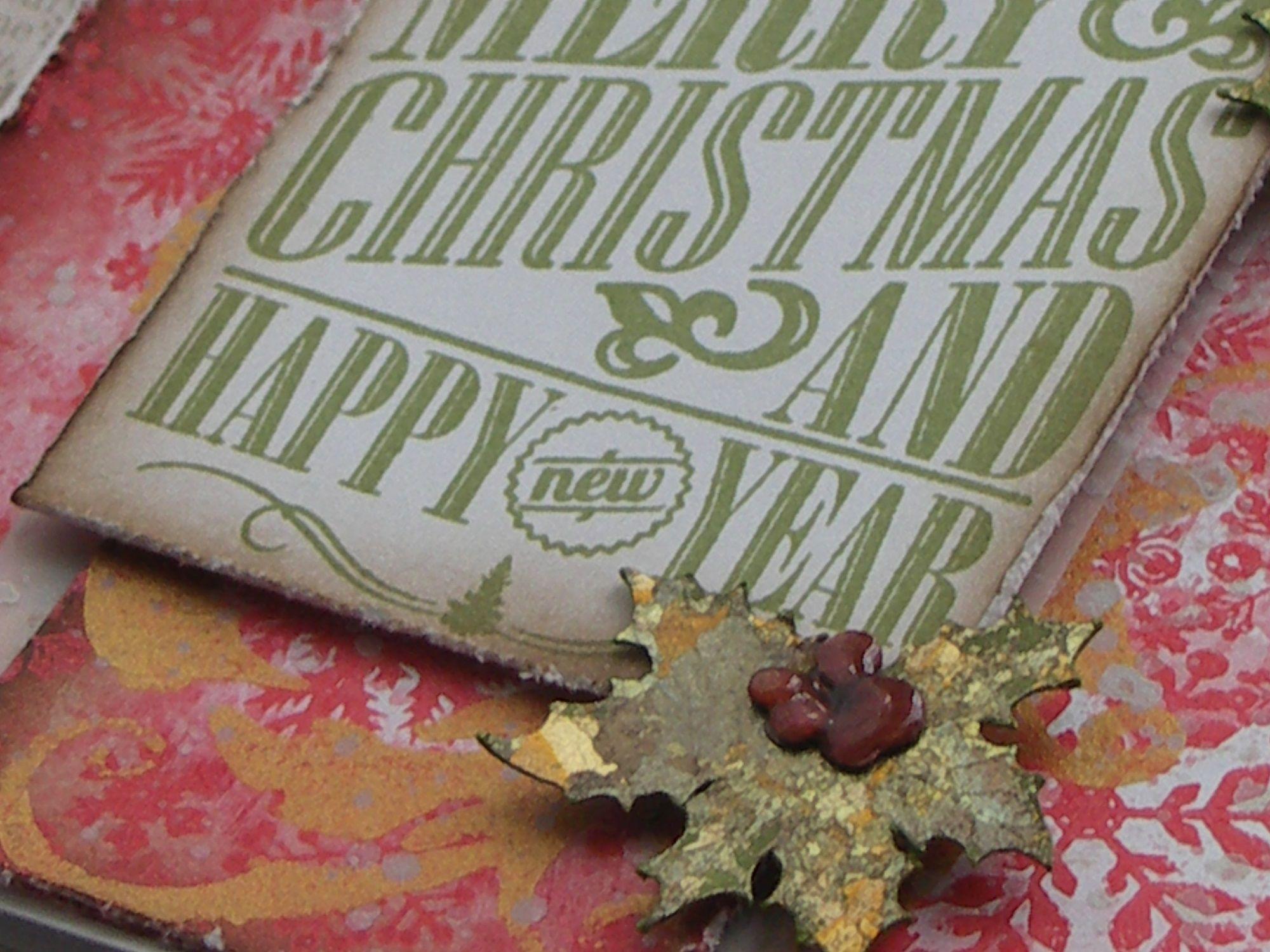 Jolly Holly Indigo Blu Christmas settings, Christmas