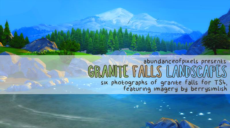 Ts4maxismatch Autumn Landscape Maxis Match Granite Falls