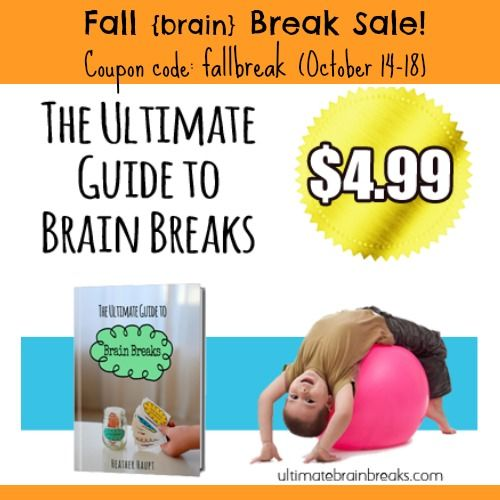 """The perfect guide to help with an easily distracted child.  MOVE > FOCUS > LEARN!  Use the coupon code, """"FallBreak"""" this week only to get it..."""