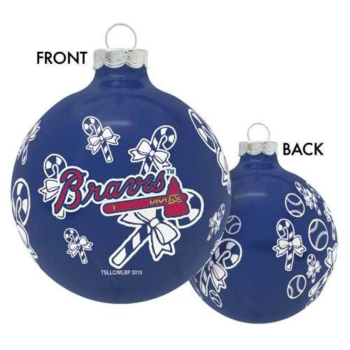 Atlanta Braves MLB Baseball Glass Christmas Ornament Holiday Decoration New  | eBay - Atlanta Braves MLB Baseball Glass Christmas Ornament Holiday