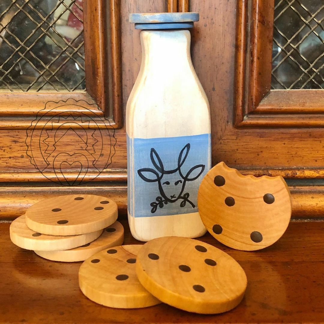 Chocolate Chip Cookies Wooden Pretend Play Food