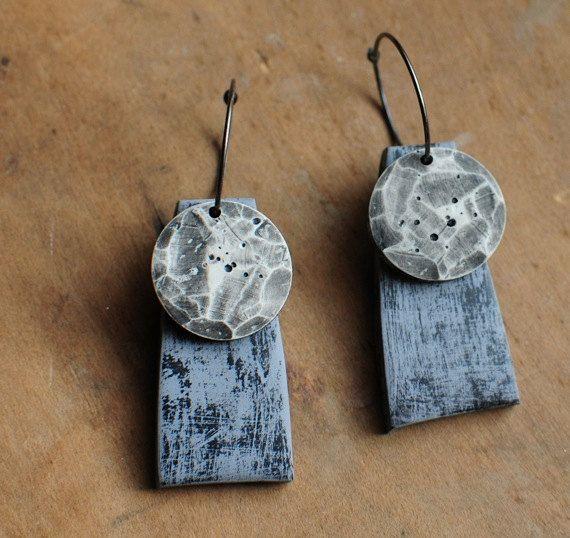 Cinetico Lunar orecchini di jibbyandjuna su Etsy
