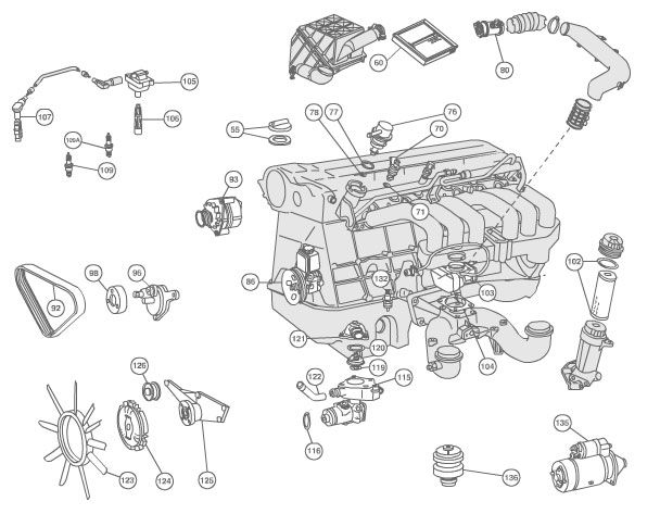 E420 Engine Diagram