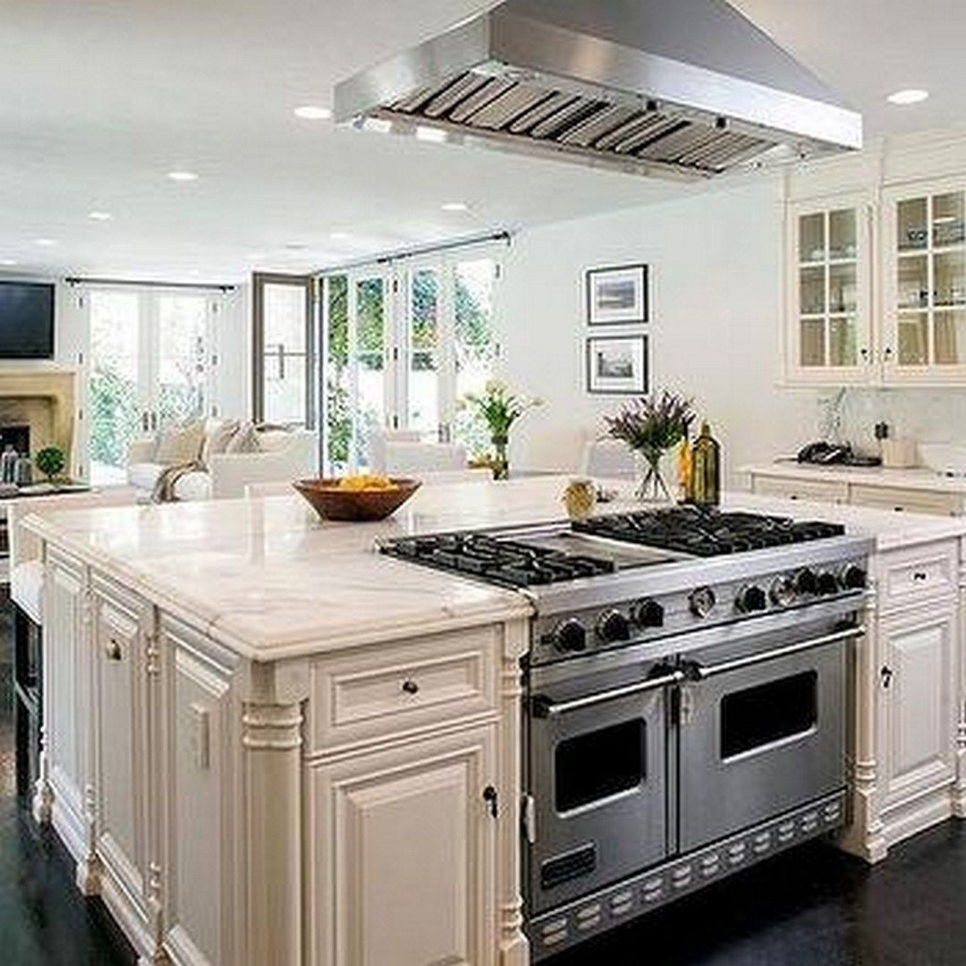 Creative Kitchen Islands With Stove Top Makeover Ideas (34