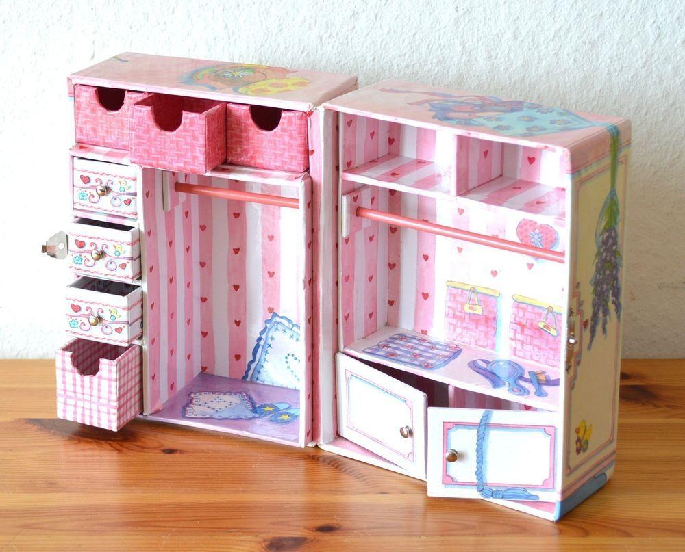 mini baby born gro er kleider schrank koffer mitnehmkoffer tiptop rar in spielzeug puppen. Black Bedroom Furniture Sets. Home Design Ideas
