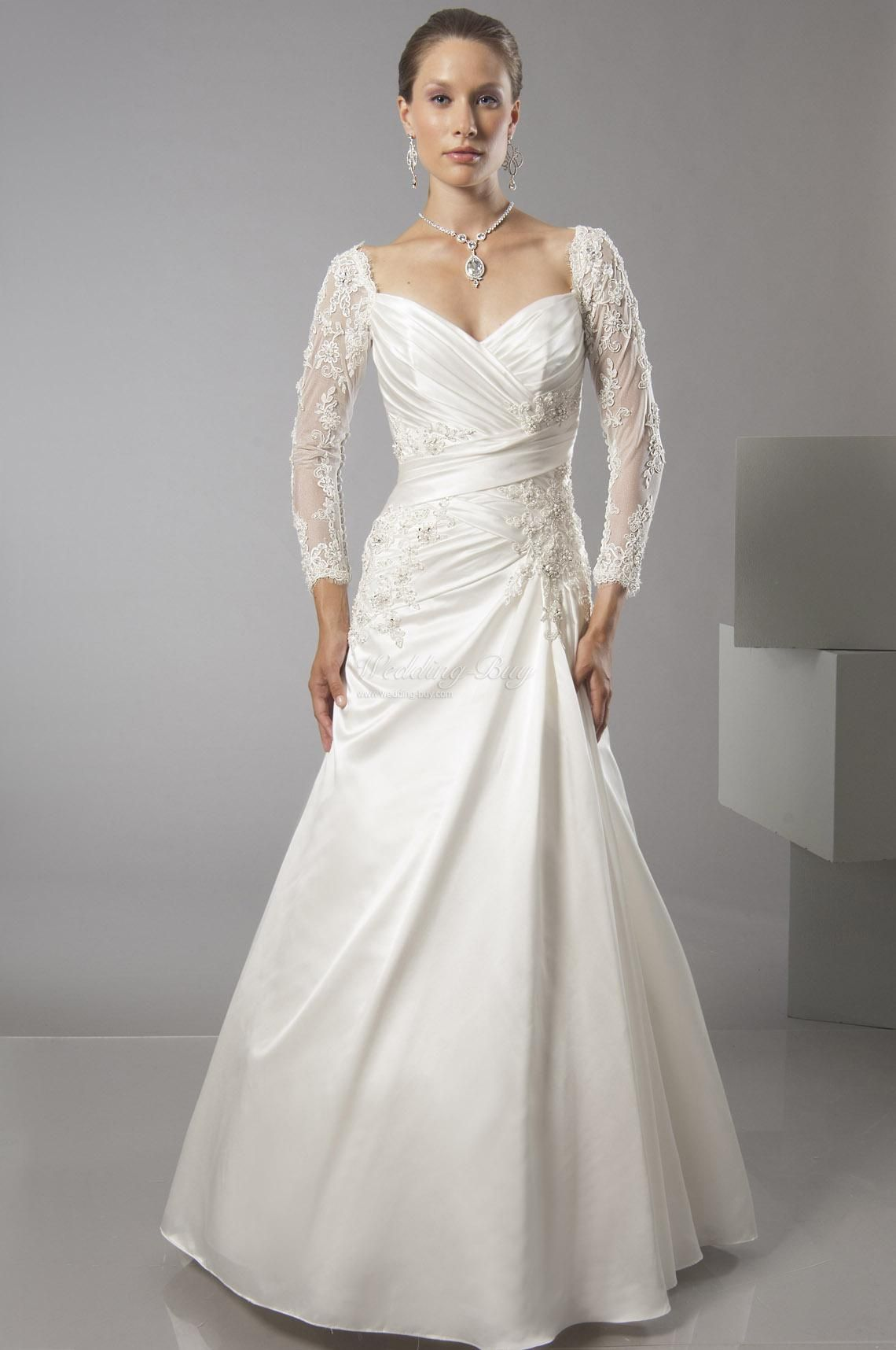 Long Lace Wedding Dresses With Sleeves