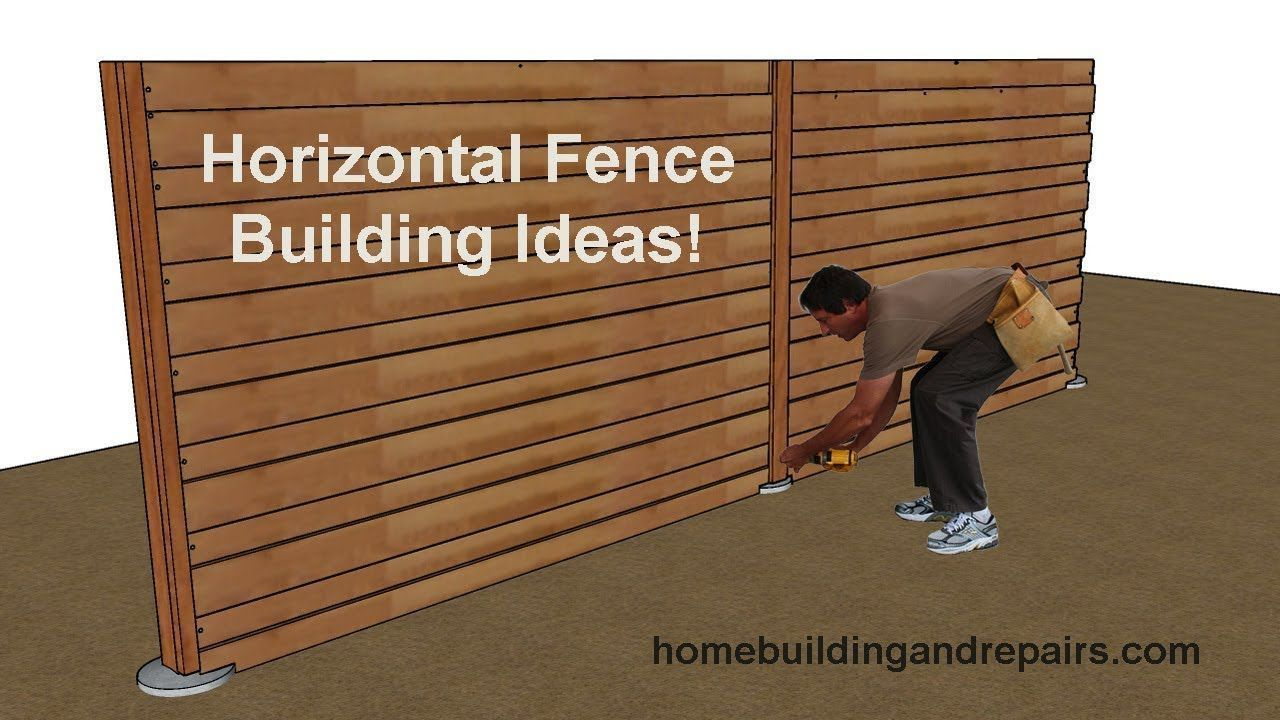 Wood Privacy Fencing With Horizontal Fence Pickets