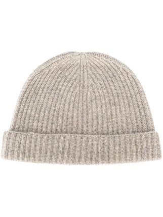 N.Peal cashmere ribbed beanie Clearance Footaction UWGc1