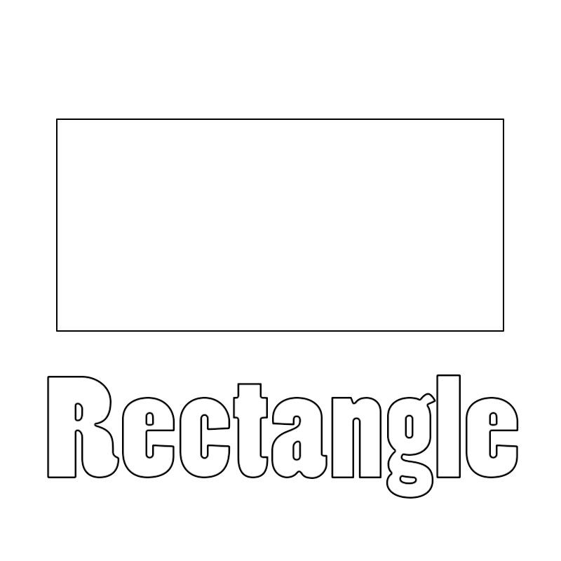 Rectangle Coloring Pages Shape Coloring Pages Coloring Pages