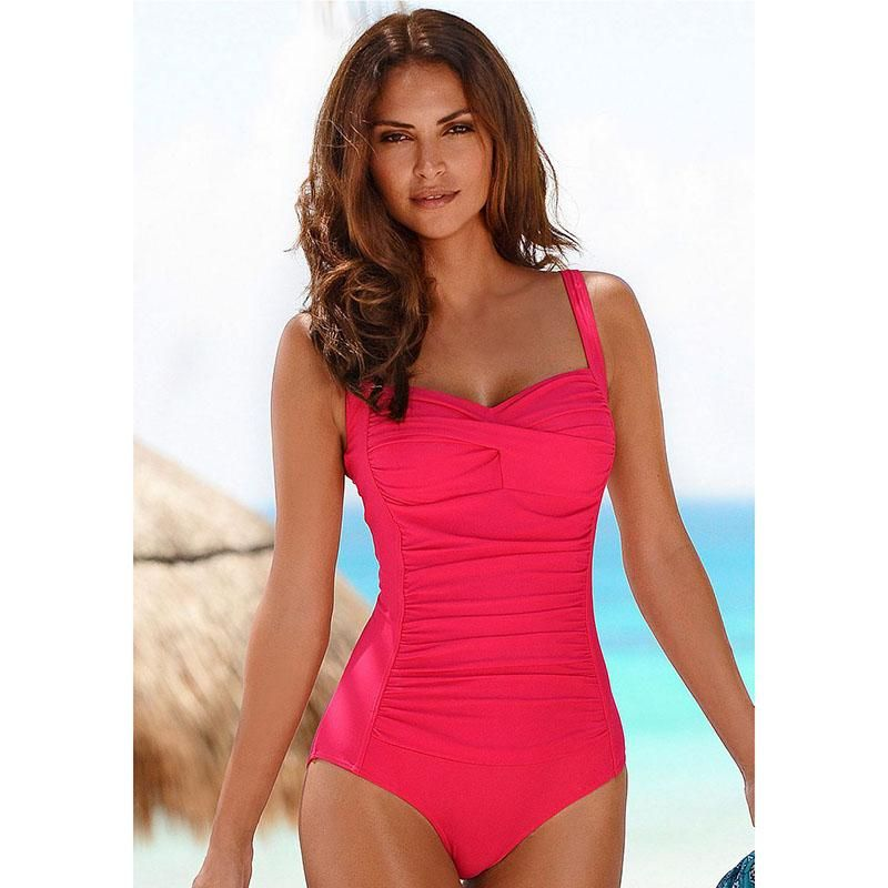 37b79fee81 New One Piece Swimsuit Women Plus Size Swimwear Retro Vintage Bathing Suits  Beachwear Print Swim Wear Monokini M-XXXL