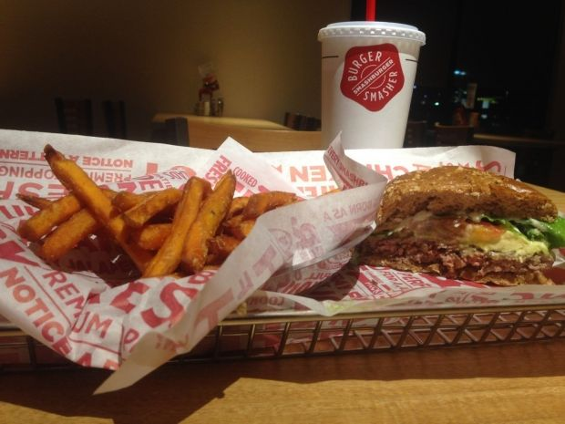 Taking an American classic to a new level! Smashburger on Magnolia drive offers vegetarian options as well as some interesting sides!
