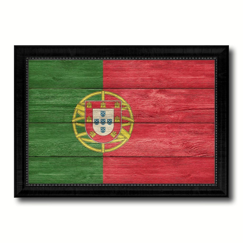 Home Decorators Collection Promo Codes: Portugal Country Flag Texture Canvas Print With Black
