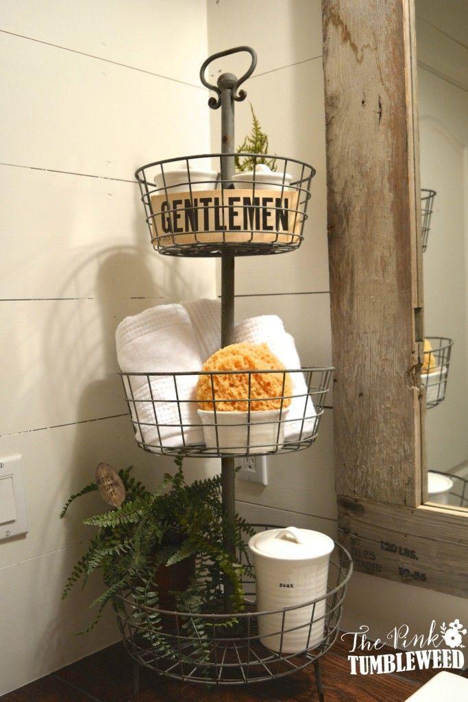 Rustic Bathroom Cool storage! Bathrooms Bathroom