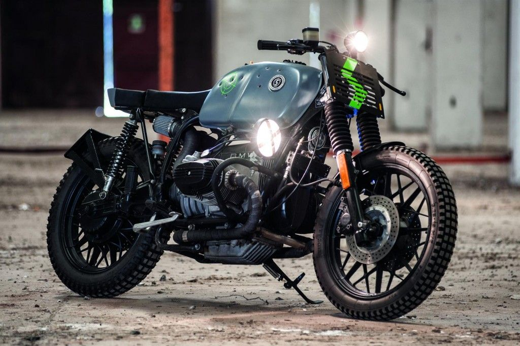 Swako Motorcycles BMW R100 Cafe Racer Street Tracker Right Front Three Quarters
