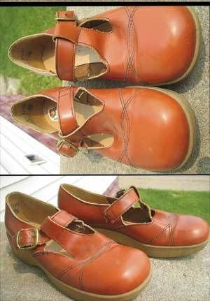 Vtg 1960 S Girls Buster Brown Leather Shoes 3 5 A C Brown Leather Shoes Buster Brown Brown Leather
