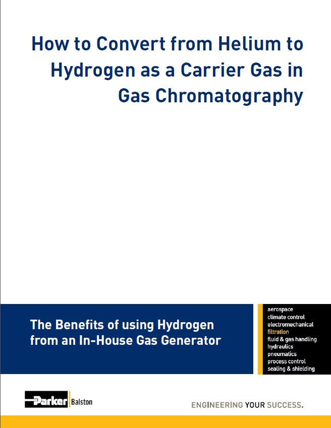 How To Convert From Helium To Hydrogen As A Carrier Gas In Gas Chromatography Process Control Gas Chromatography Gas Generator