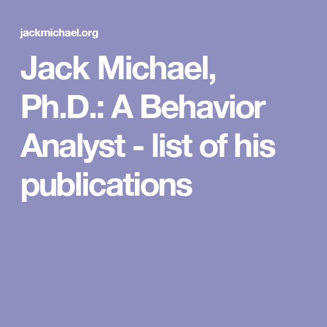 applied behavior analysis research
