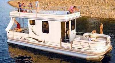 A typical Sun Tracker Pontoon Houseboat: I have not seen Sun