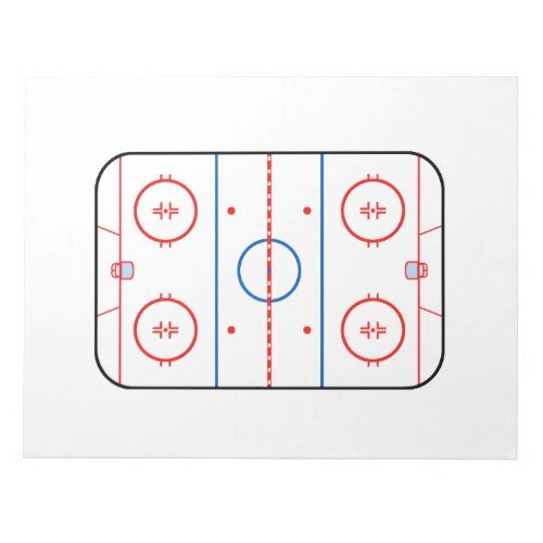 Ice Rink Diagram Hockey Game Design Notepad Hockey Inspiration