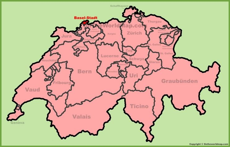 Canton of BaselStadt location on the Switzerland map Maps