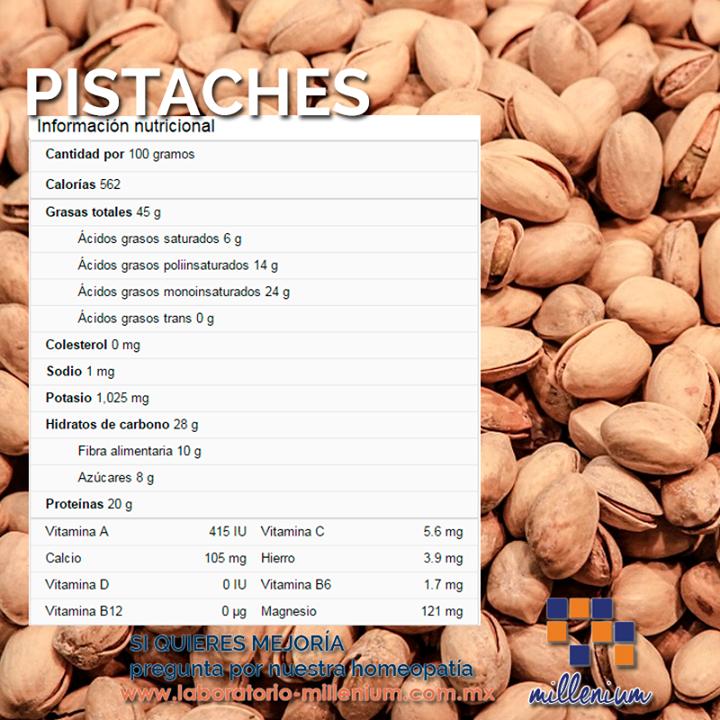 Aunque los #pistaches tienen un alto contenido calórico sus nutrientes son excelentes para ti.