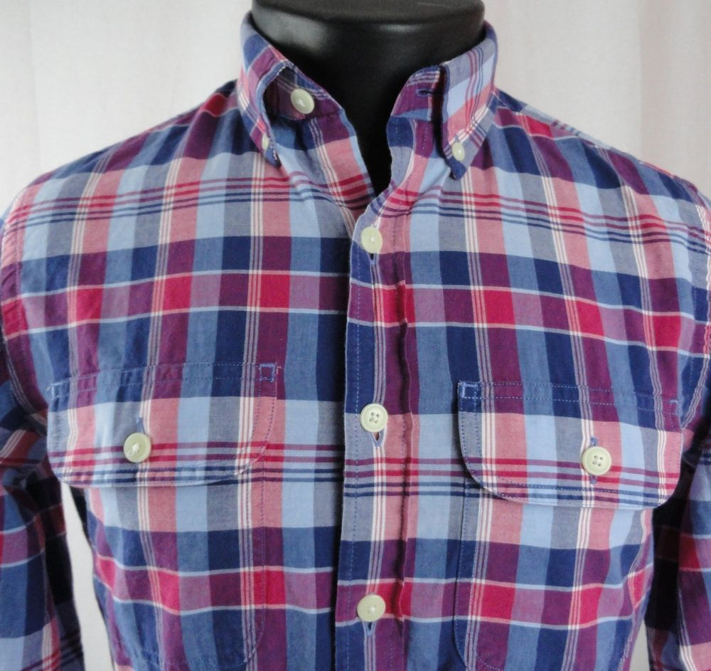 Button-Front Regular XS 100% Cotton Casual Shirts for Men | eBay