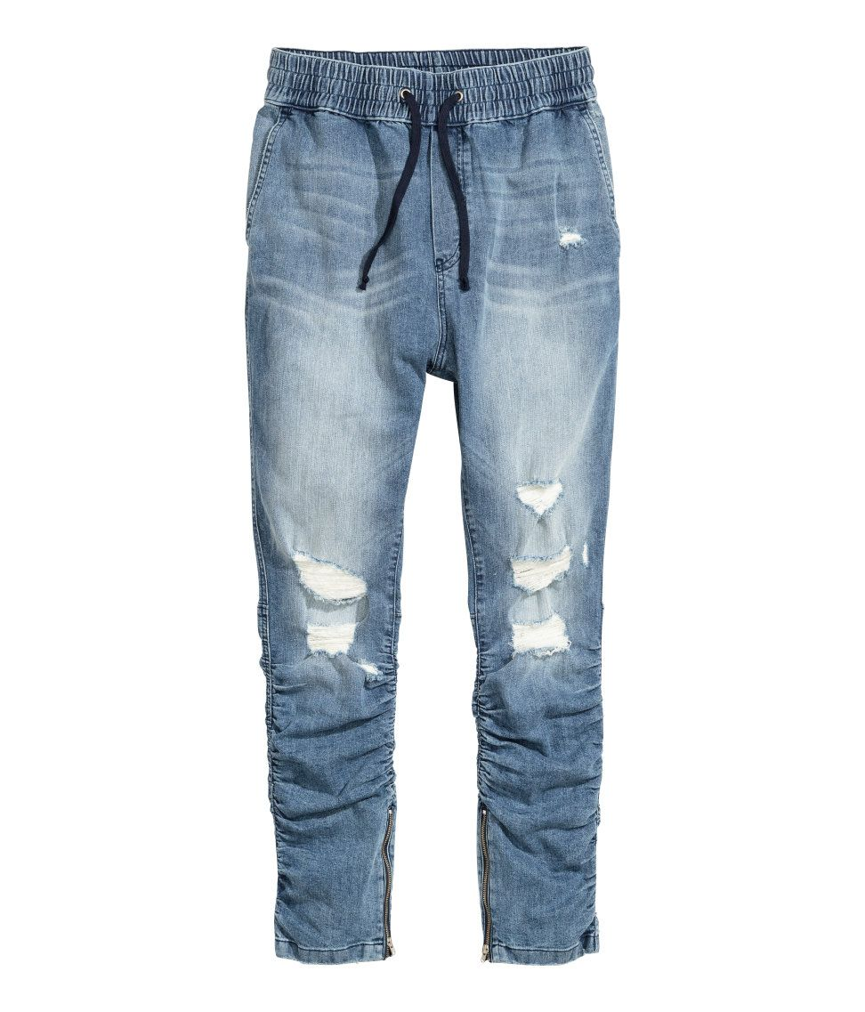 0c8afd86864d Slim Low Joggers | H&M Divided Guys | H&M MAN DIVIDED | Ripped jeans ...