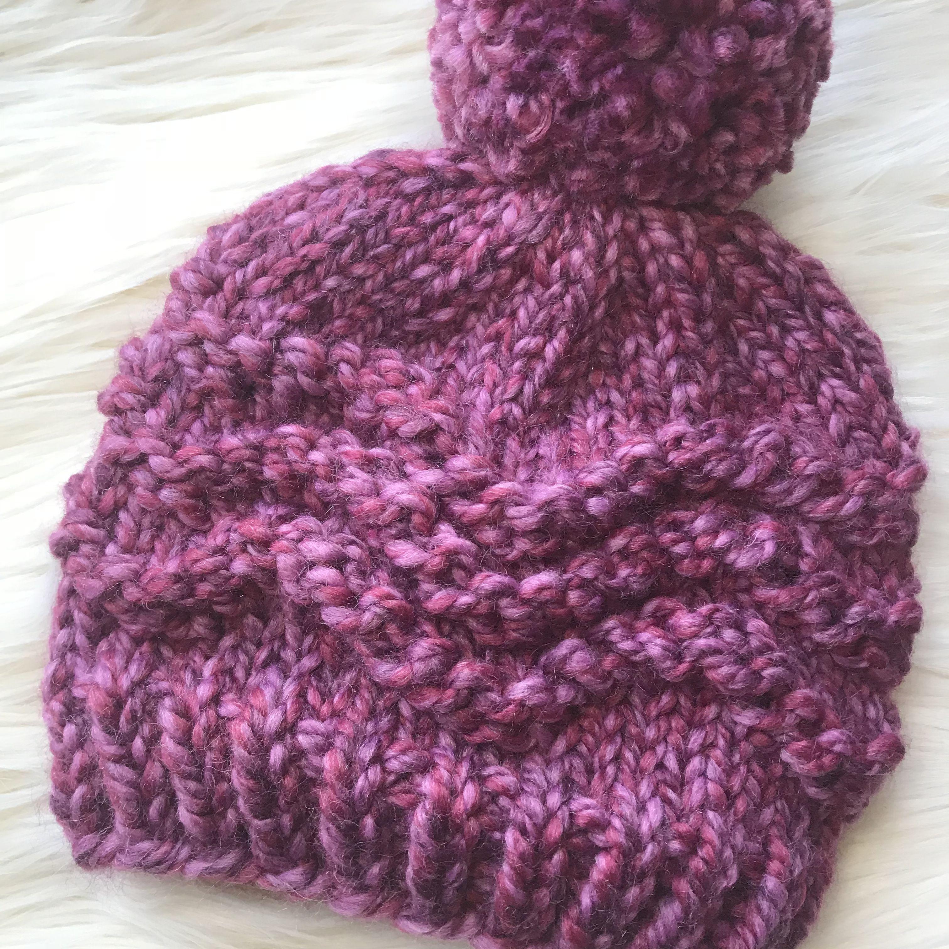Zig Zag Chunky Beanie | Chunky knitting patterns, Knit ...