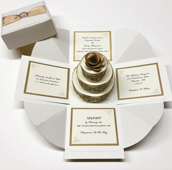 Exploding Box Wedding Invitation Exploding Boxes Exploding Box Invitation  Exploding Box Card 100 Included