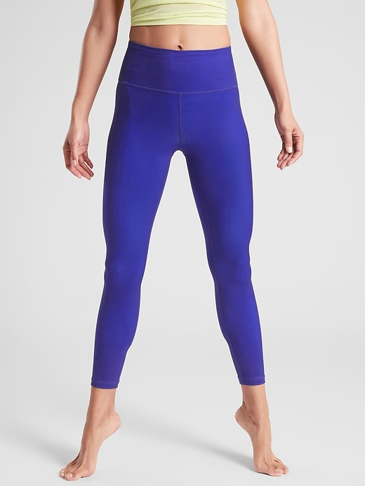 803976e40bce19 Athleta Women's Elation 7/8 Tight In Powervita™ Paradise Blue Big And Tall  Size