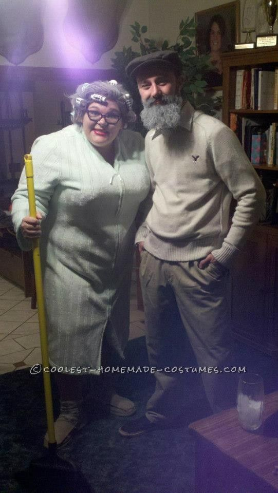 Last-Minute Granny and Papa Couple Costume... This website is the Pinterest of costumes