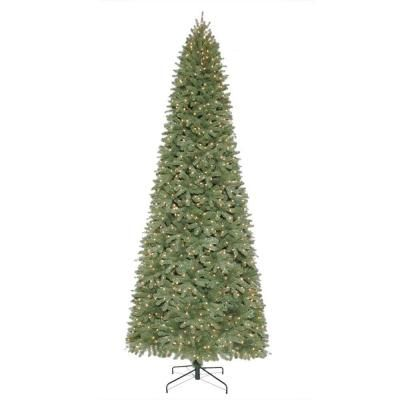 Martha Stewart Living 12 Ft Pre Lit Downswept Wimberly Slim Spruce Artificial Christ Slim Artificial Christmas Trees Pre Lit Christmas Tree Led Christmas Tree