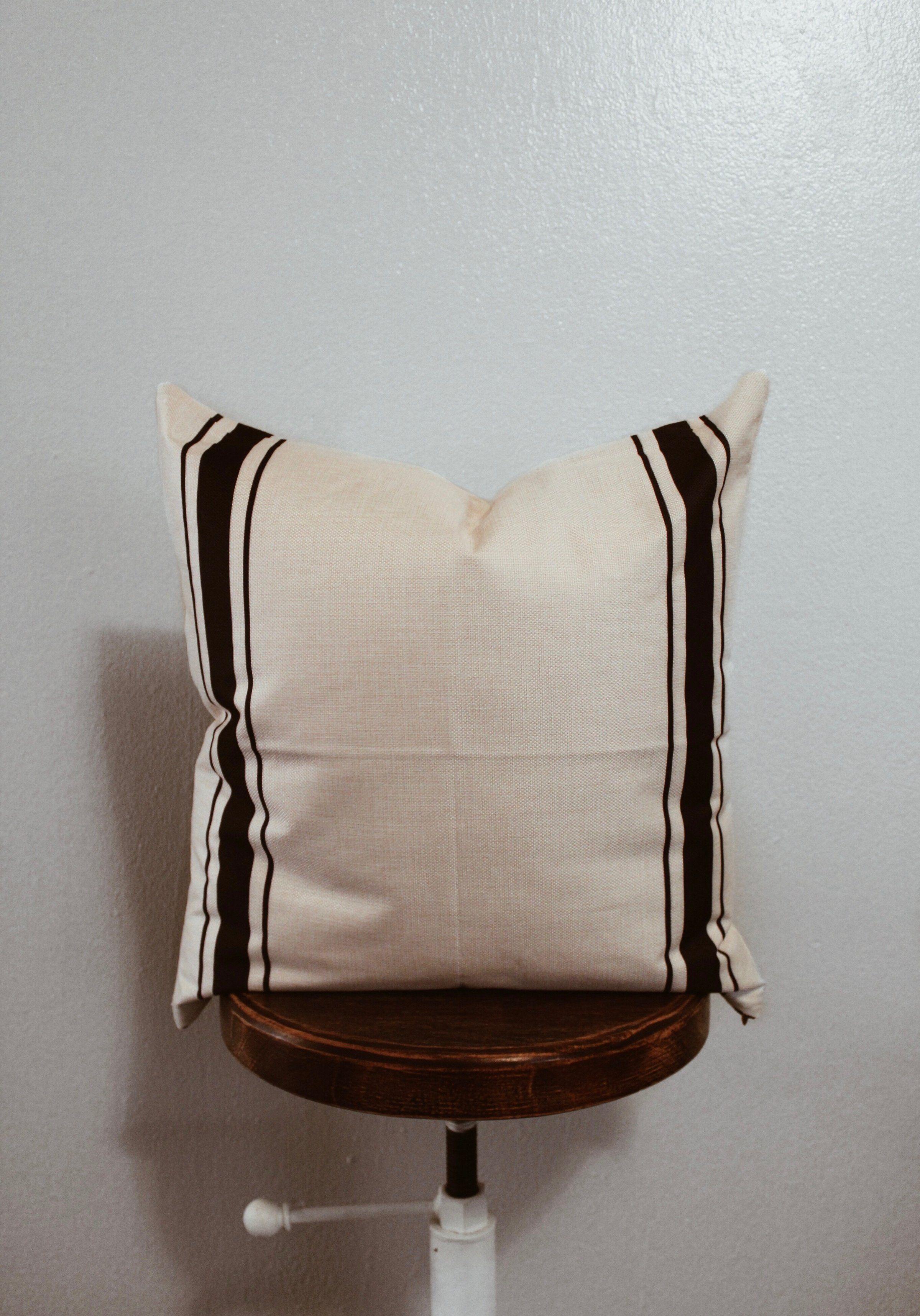 Black Grain Stripe Pillow Covers  Black Grain Stripe Pillow Covers  The Southern Jarring Co