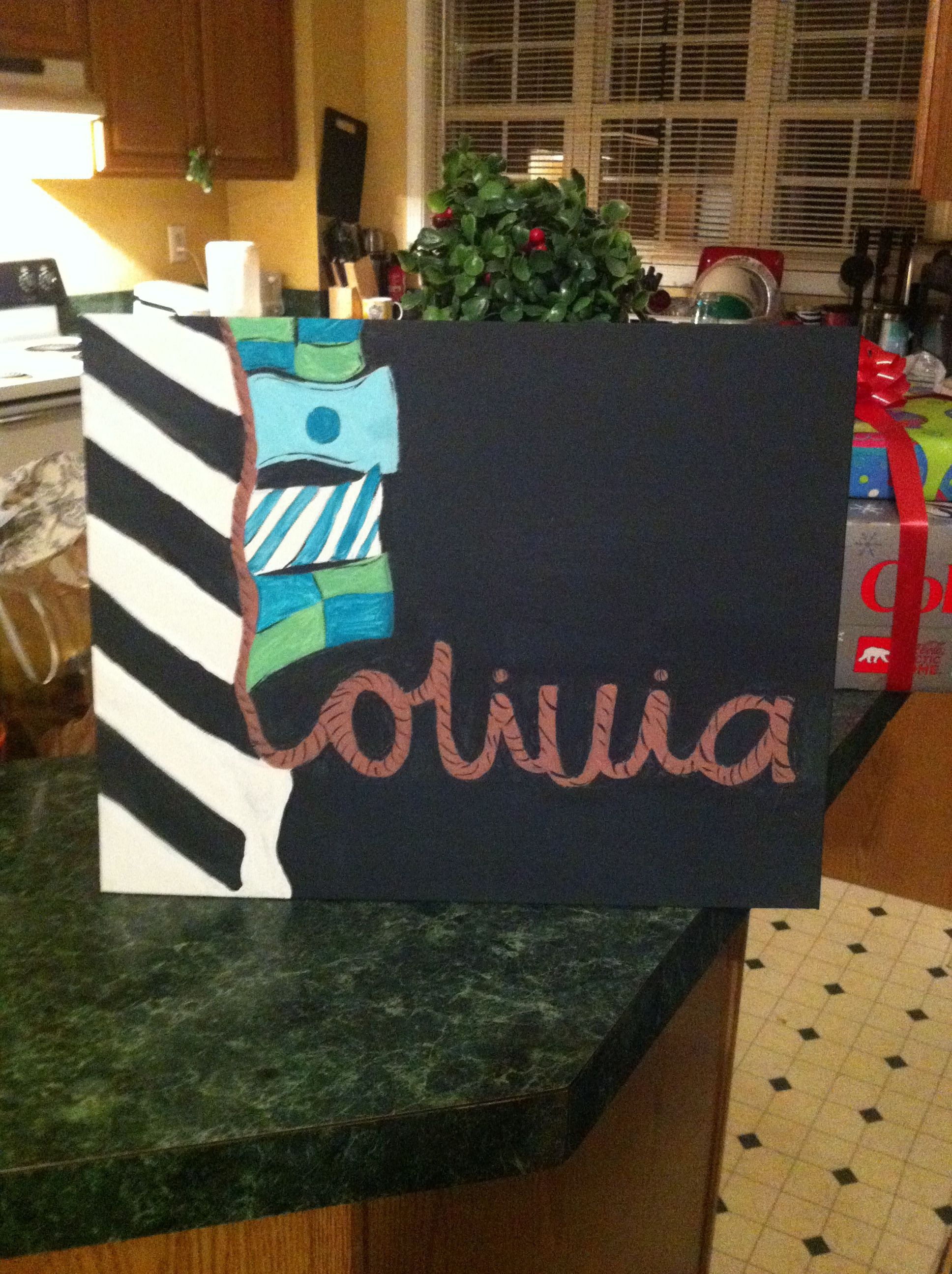 Lilly inspired canvas! This is mine!!! AHHHHH!